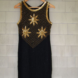 Beautiful Sequin and Beaded Little Black Dress